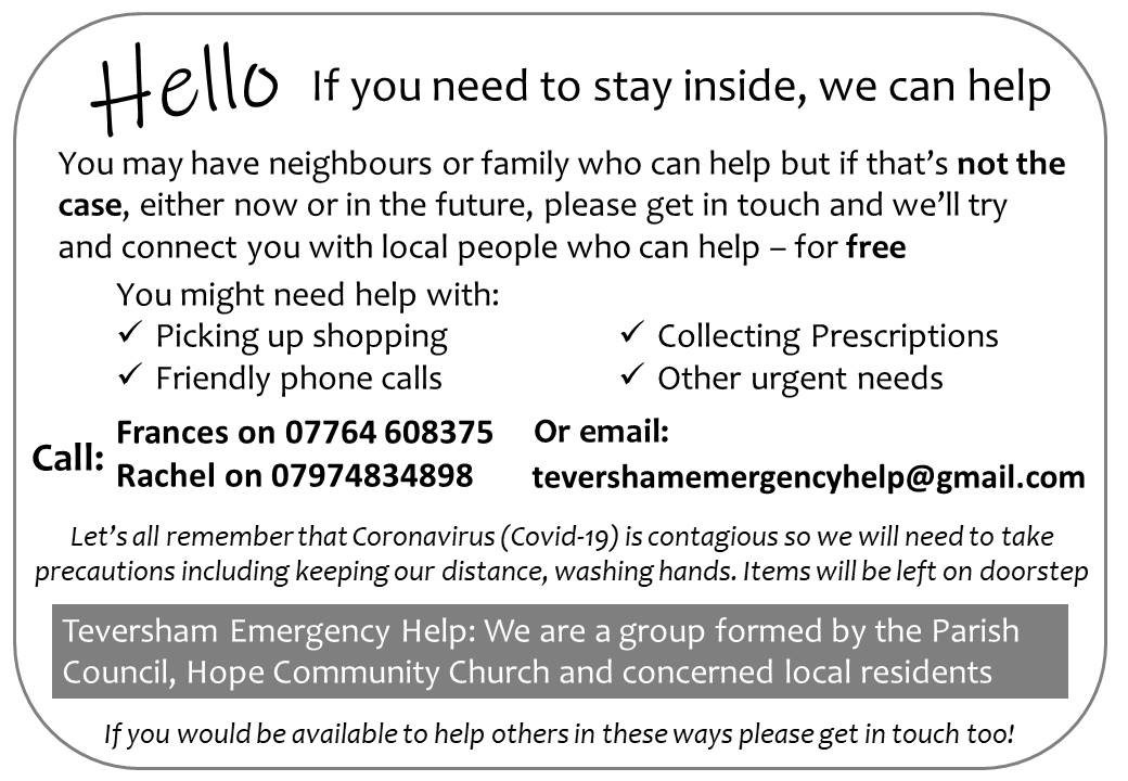 Teversham Emergency Help